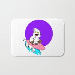 Betti the Yeti Surfin' by Way of the Purple Moon Bath Mat