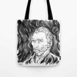 Van Gogh in black Tote Bag