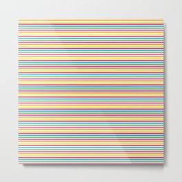Colourful Pinstripes Metal Print