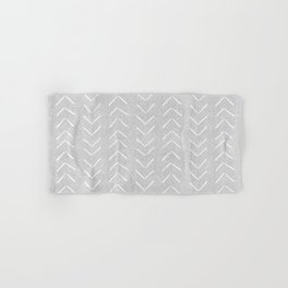 Mudcloth Big Arrows in Grey Hand & Bath Towel