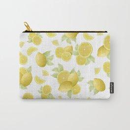 Summer Lemon Twist #1 #tropical #fruit #decor #art #society6 Carry-All Pouch