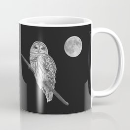 Owl, See the Moon (bw) Coffee Mug