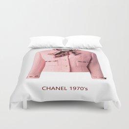 coco vintage pink suit jacke Duvet Cover