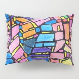 Stained Glass Montage Pillow Sham