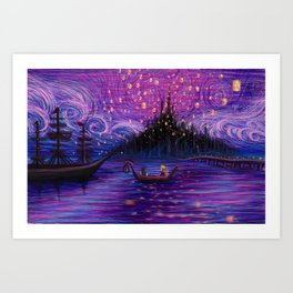 The Lantern Scene Art Print