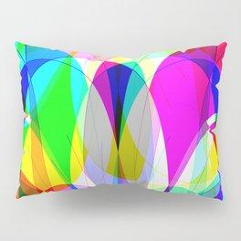 bubbles with blue background Pillow Sham
