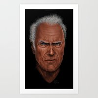clint barton Art Prints featuring Clint by Palm
