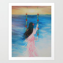 Heavens Swing Art Print