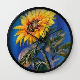 Sun Daisy Wall Clock