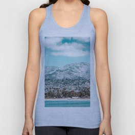Houses are not allowed past the middle of that mountain. Unisex Tank Top