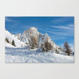 Alpine Mountain, Les Arcs Resort Canvas Print