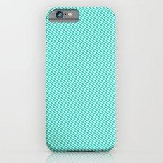 Aqua stripes Slim Case iPhone 6s