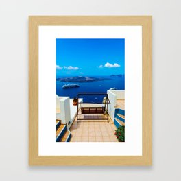 Volcano View,Santorini Framed Art Print