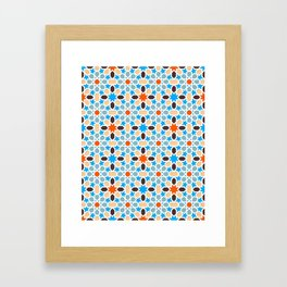 Mosaic pattern, colorful oriental pattern - morocco pattern Framed Art Print