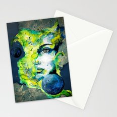 Esther Green (Set) by carographic watercolor portrait Stationery Cards