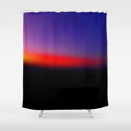 Bokeh sunrise Shower Curtain
