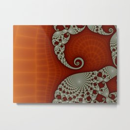 Cresting Lace Wave Metal Print
