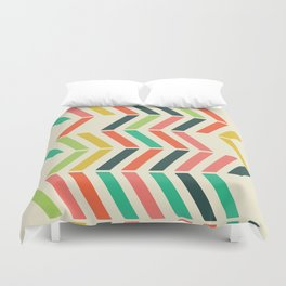 Color line pattern Duvet Cover