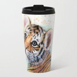 Tiger Cub Cute Baby Animals Travel Mug