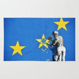 Banksy, Brexit, Euro, Breaking EU Stars, [edited, close up] Rug