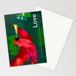 Holiday Love poster Stationery Cards