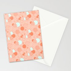 Coral Bubbles (with a hint of mint) Stationery Cards
