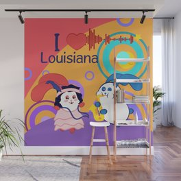 Ernest and Coraline | I love Louisiana Wall Mural