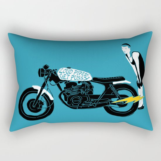 loud pipes Rectangular Pillow