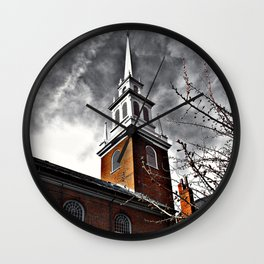 North Church 4 HDR Photography Wall Clock