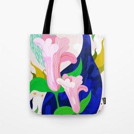 Blue Leaf Tote Bag