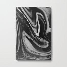 OCEAN - BLACK Metal Print