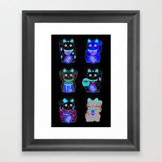 Lucky Cat / Maneki Neko Framed Art Print
