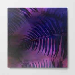 Forest Ferns - Warm Metal Print