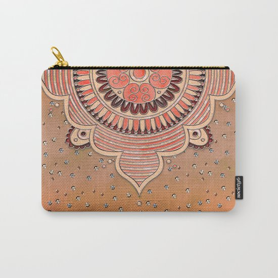 Mandala ornament orange Carry-All Pouch