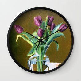 A Gift of Tulips Wall Clock