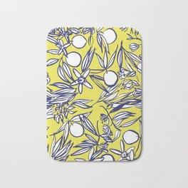 Orange Blossoms on Citron Bath Mat