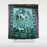 tapestry Shower Curtains featuring Tapestry by Chicago Artist
