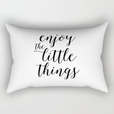Printable Art,Enjoy The Little Things,Inspirational Quote,Love Sign,Kitchen Decor,Quote Prints Rectangular Pillow