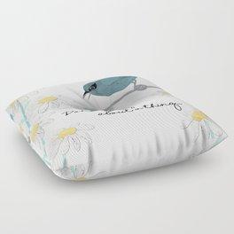 Three Little Birds, Part 1 Floor Pillow