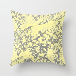 Soft Yellow Abstract Throw Pillow