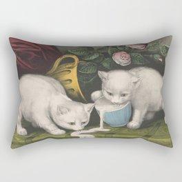 cute kitten 3- Anonymous - Little white kitties -pet,whikers,cat,kitty,kitten Rectangular Pillow