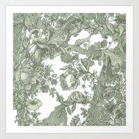 leaf Art Prints featuring Leaf  by Maethawee Chiraphong