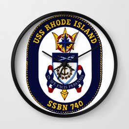 USS RHODE ISLAND (SSBN-740) PATCH Wall Clock
