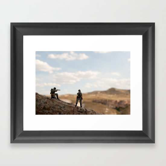 Soldiers watching Framed Art Print