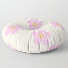 Retro 60's Flower Power 4 Floor Pillow