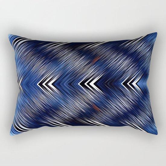 Abstract #Blue #Black #1 #art #society6 Rectangular Pillow