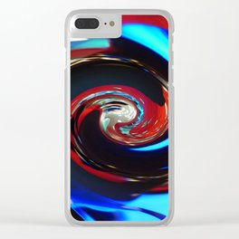 Swirling colors 04 Clear iPhone Case