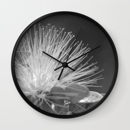 Calliandra Flower Wall Clock