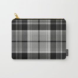 Black & White Tartan (var. 2) Carry-All Pouch