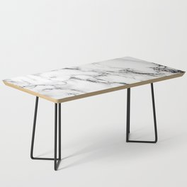White Marble Texture Coffee Table